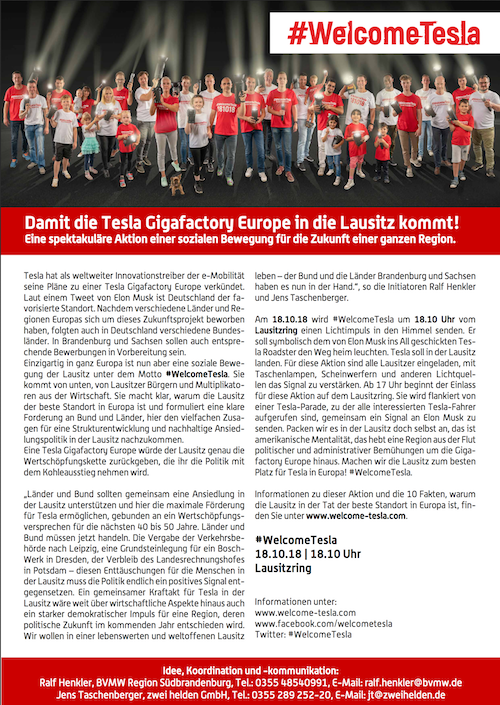 Welcome Tesla Presse-Info